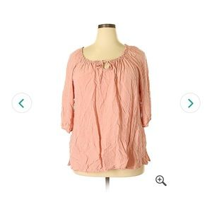 Catherines Peach Blouse Size 4x